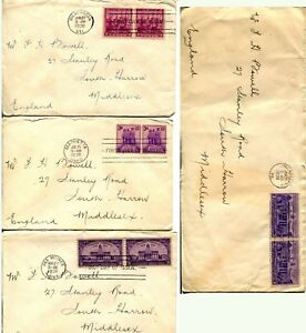 1938-USA-835-838-FDC-First-Day-Issue-Cover-Collection-CONSTITUTION-RATIFICATION