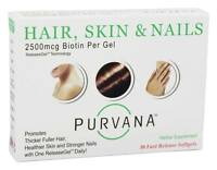 Purvana Hair Skin And Nails - 30 Fast Release Softgels