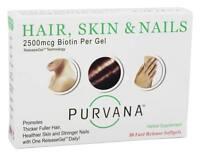 Purvana Hair Skin And Nails - 30 Fast Release Softgels