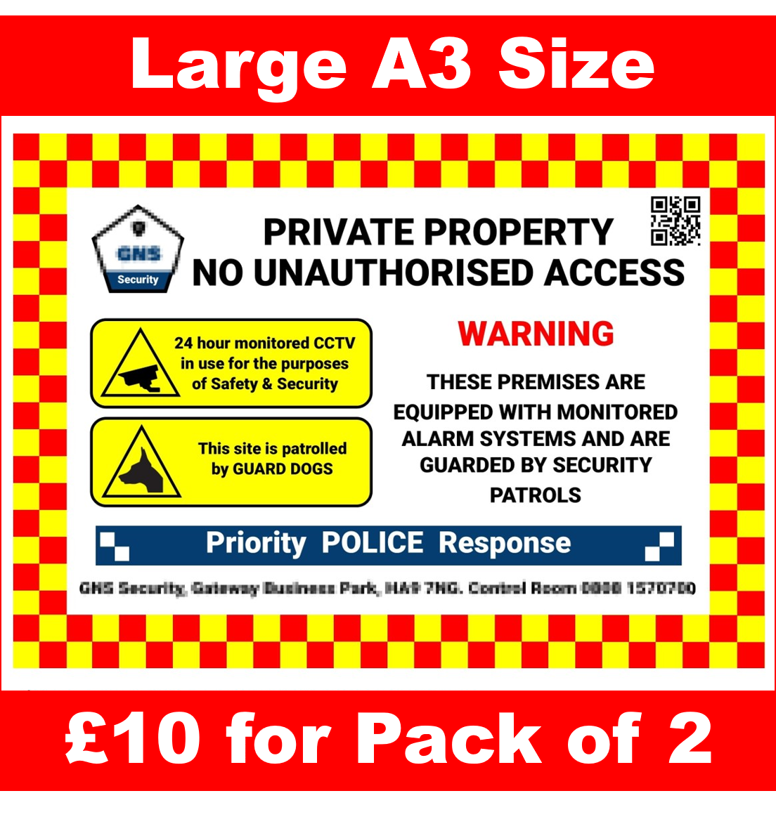 Security Signs for use on Building Sites