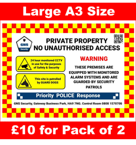 Site-Building-Security-Signs-with-CCTV-and-Guard-Dog-Warning-A3-Size-Pk-of-2