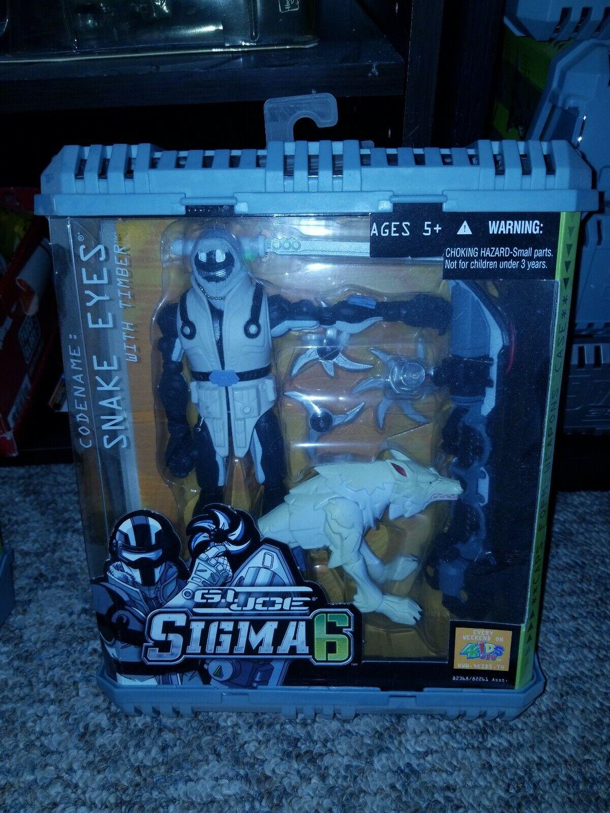 Hasbro G.I. Joe Sigma 6 Snake Eyes with Timber Action Figure
