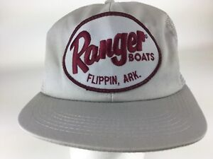 6064f8be4 Details about Vintage cap hat Ranger Boats Flippin Arkansas snapback mesh  trucker patch Rare
