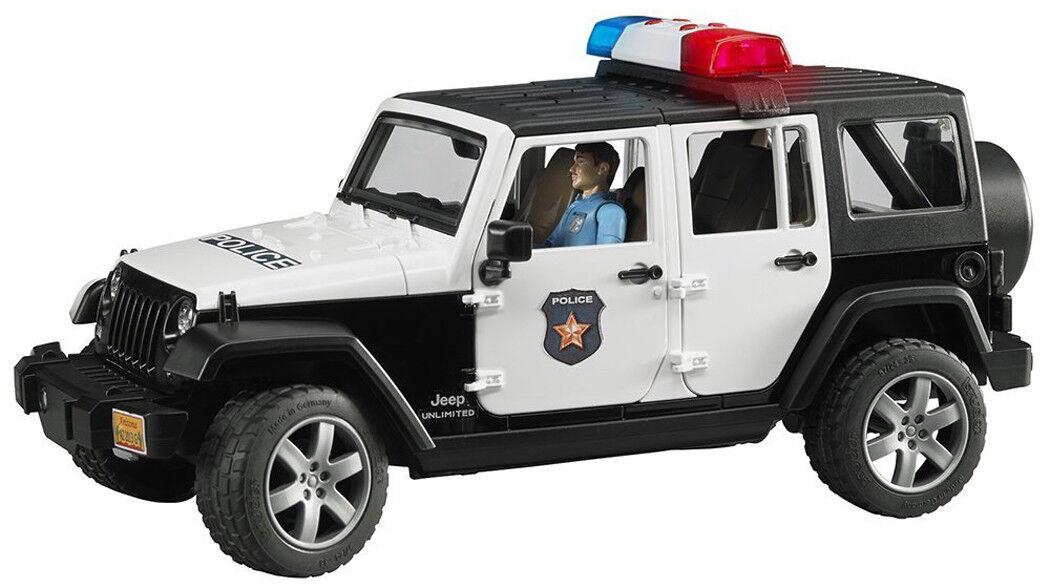 Bruder Toys Jeep Wrangler Unlimited Rubicon con vehículo de policía policía 02526
