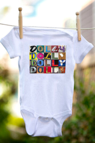 Details about  /DOLLY Baby Bodysuit in Sign Letter Photos 100/% Cotton /& Short Sleeve