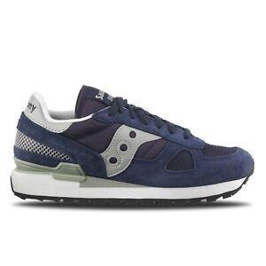 Dettagli su Scarpe da uomo da donna Saucony Shadow Original 2108 523 Blu Grigio Sneakers