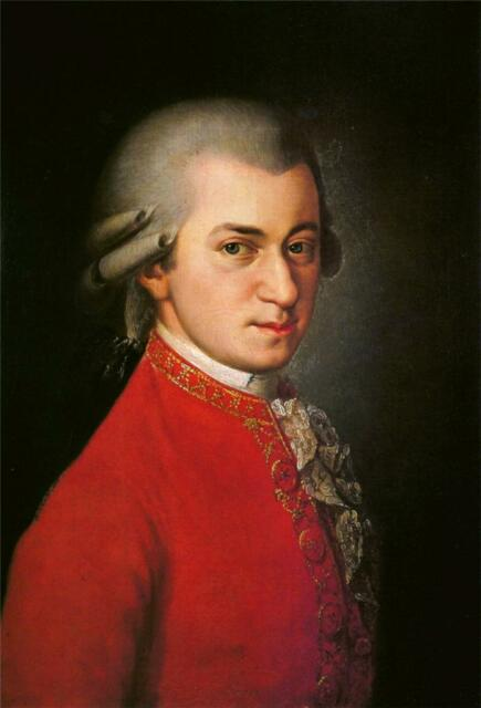 WOLFGANG AMADEUS MOZART GLOSSY POSTER PICTURE PHOTO piano keyboard composer 1529