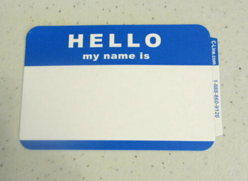 """200 /""""HELLO MY NAME IS/"""" NAME TAGS LABELS BADGES STICKERS PEEL STICK ADHESIVE"""
