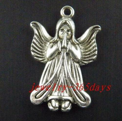 24pcs Tibetan Silver Angell Charm Pendants 35x23x4mm 1881