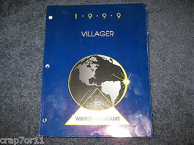 1999 MERCURY VILLAGER FACTORY WIRING DIAGRAM REPAIR ...