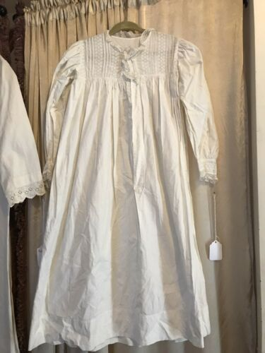 VINTAGE VICTORIAN EDWARDIAN LACE DRESS NIGHT GOWN