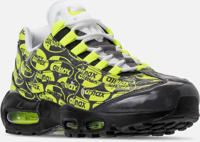 Nike Air Max 95 Premium PRM Running shoes Black   Volt   White Sz 10 538416 019