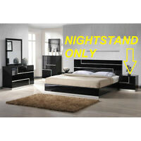 Bedroom Modern Nightstand Black Fancy End Furniture Night Stand Table