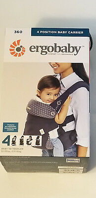 ERGOBABY 360 ALL POSITIONS ERGONOMIC BABY TODDLER CARRIER GINGHAM//NOIR 12-45 LBS