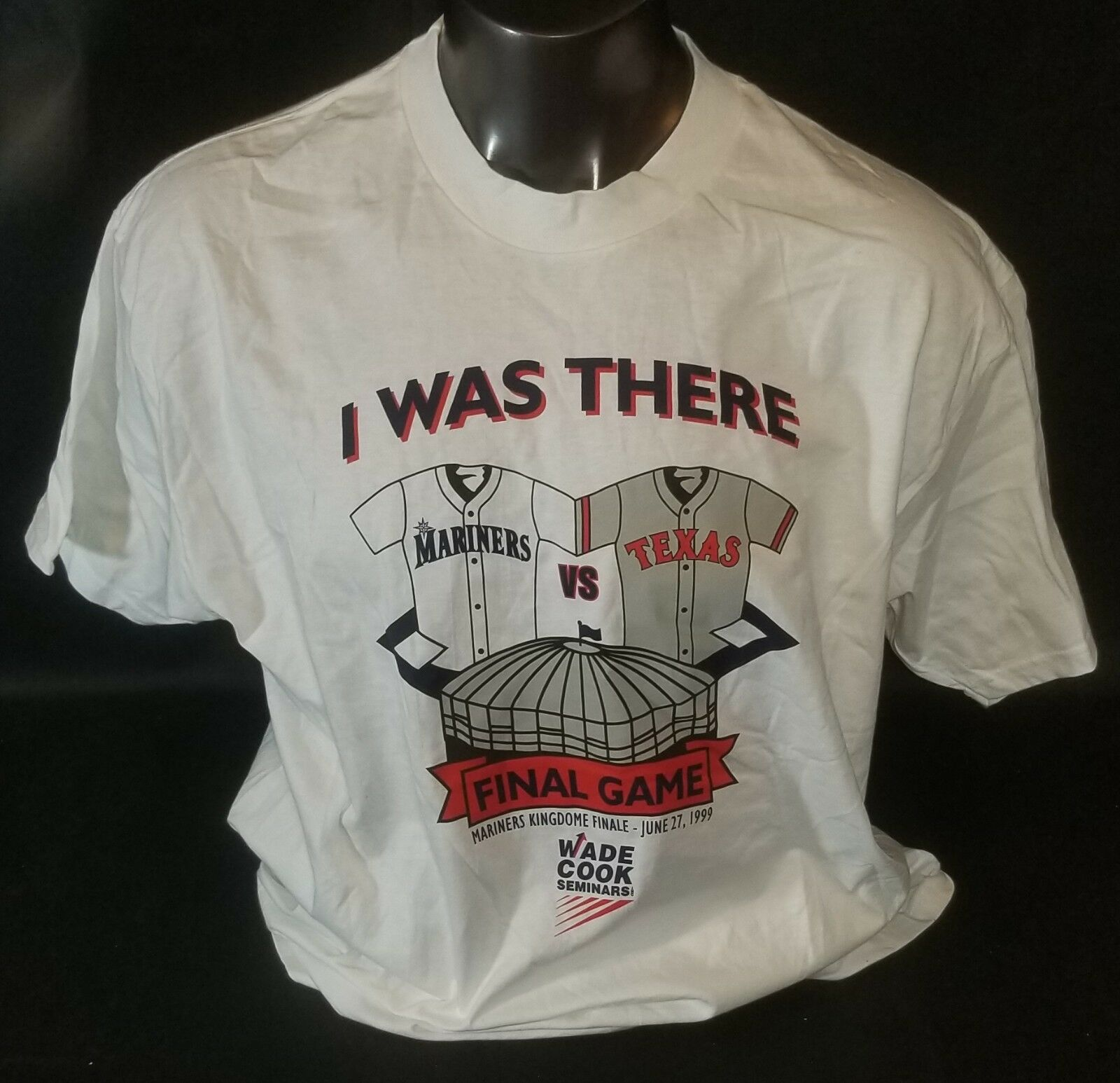 Vintage Seattle Mariners Kingdome Final Game 1999 I Was There TShirt XL Griffey