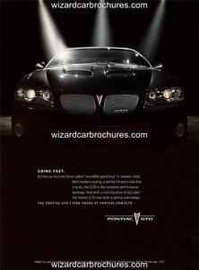 2006 PONTIAC GTO A3 POSTER AD SALES BROCHURE MINT ADVERT ADVERTISEMENT