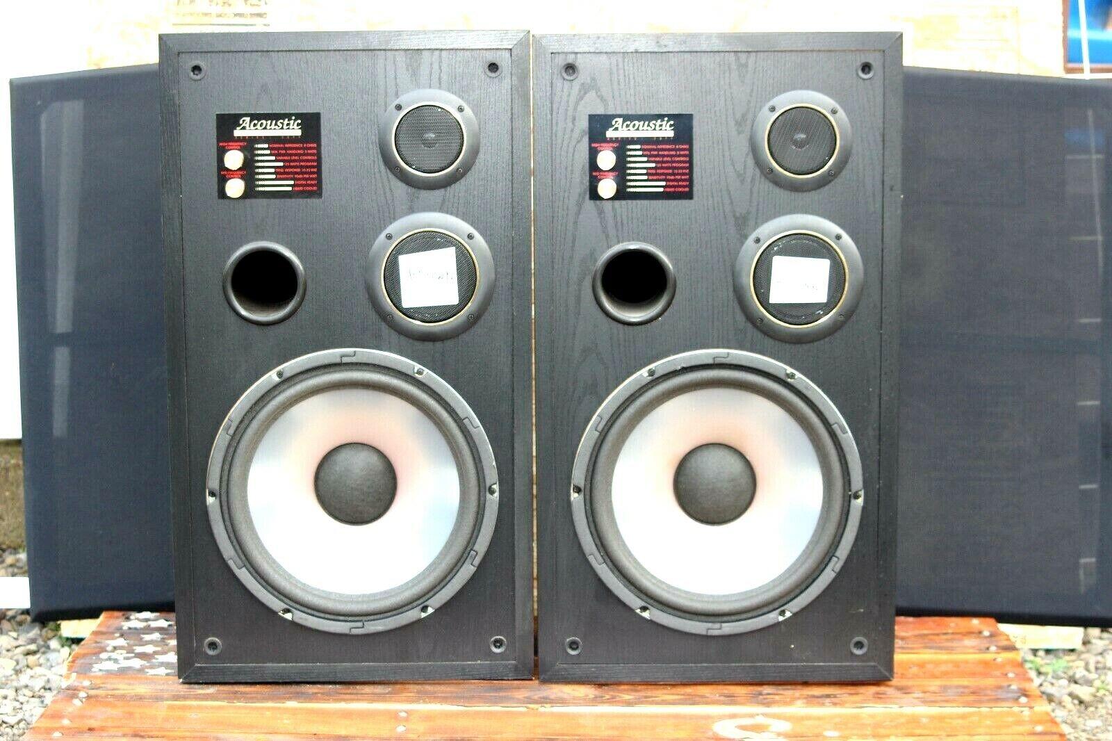2 Acoustic Studio Monitor 10  Speaker Series 3311  vintage
