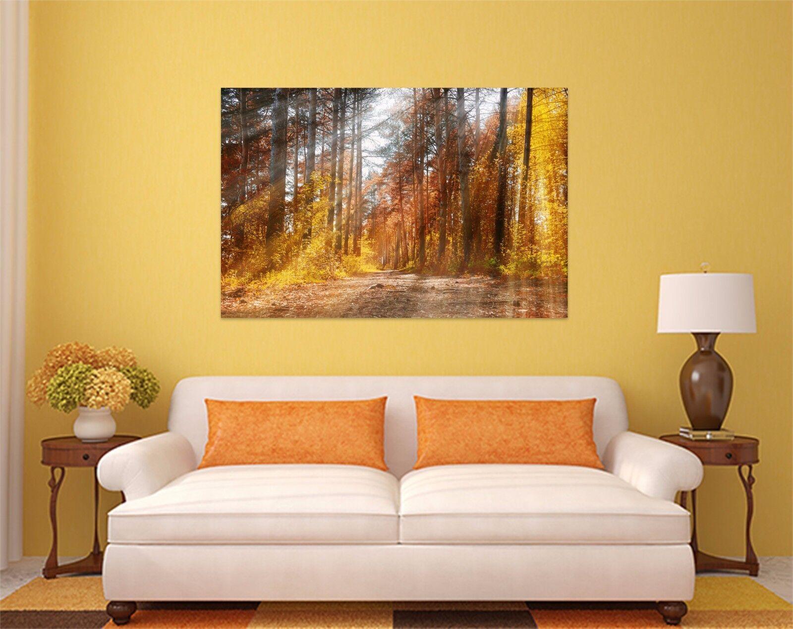3D Goldener Sträucher Wald 786 Fototapeten Wandbild BildTapete AJSTORE DE Lemon
