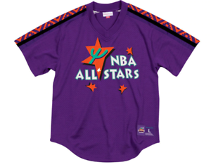 a9b7c9e9c Authentic Mitchell   Ness Purple 1995 NBA All-Star Mesh V-neck ...