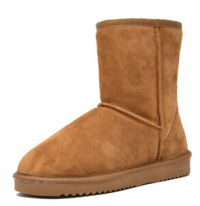 DREAM-PAIRS-Women-039-s-Suede-Leather-Sheepskin-Fur-Lining-Winter-Boots
