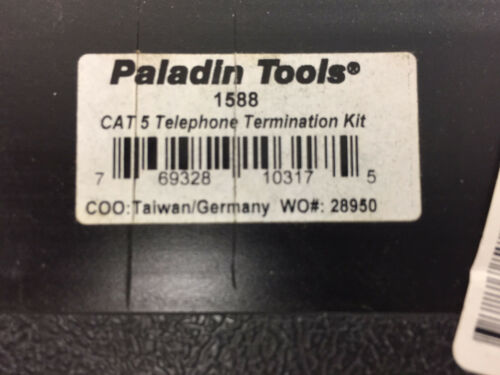 PALADIN TOOLS 1588 UPC 769328103175 CAT 5 TELEPHONE TERMINATION KIT