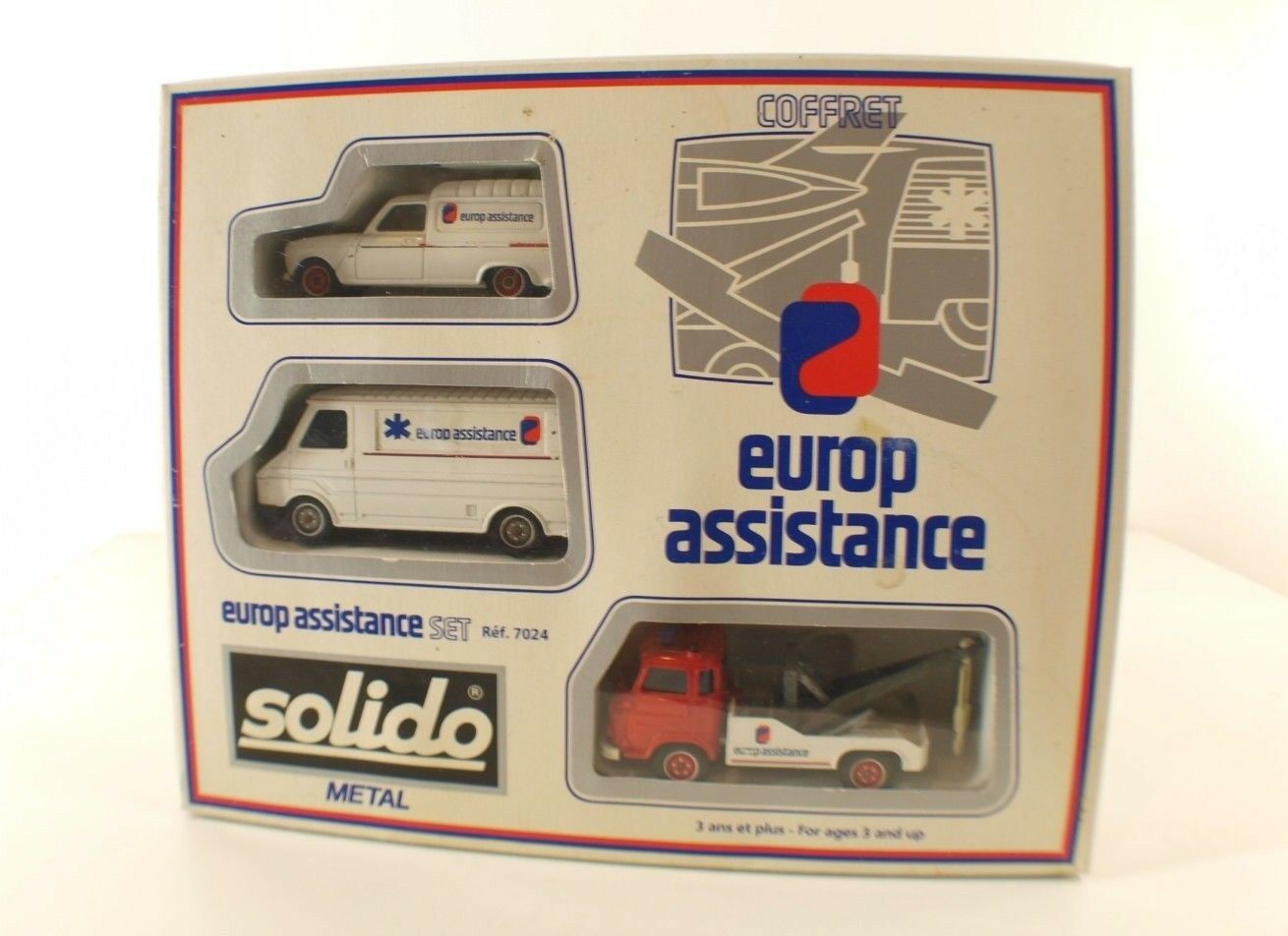 Solido 7024 coffret Europe Assistance Set Renault