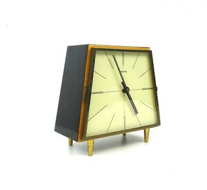 VERY-RARE-STUNNING-MID-CENTURY-MODERNISM-TABLE-CLOCK-VINTAGE-1960-BY-HERMLE