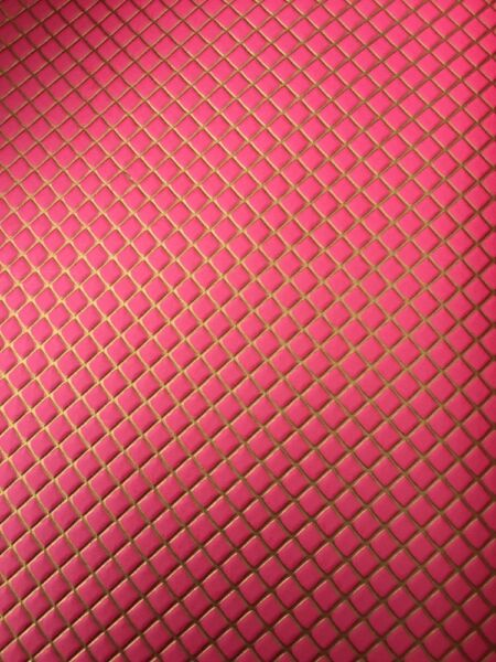 New Dolls House Interior Deep Pink And Gold Embossed Wallpaper P