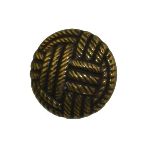 Métal cuivre corbeilles tressées corde design tige boutons taille 18L 11,5 mm