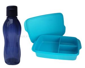 Tupperware Clevere Pause Lunchbox mit Trennung EcoEasy Flasche 500 ml Brotdose