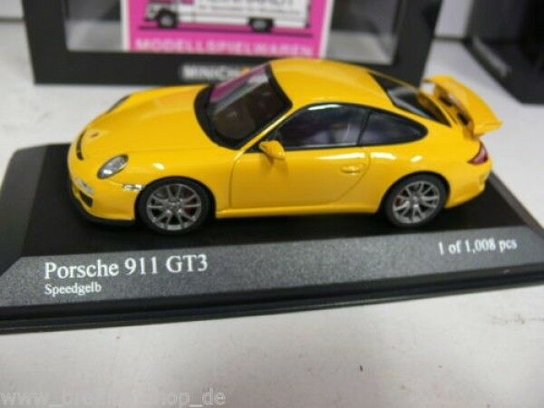 1 43 Minichamps Porsche 911 gt3 Speedjaune 400 068021