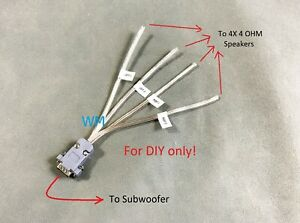DIY Adapter to Connect 4 Third Party Speakers to Bose 321/Cinemate GS GSX  System | eBayeBay