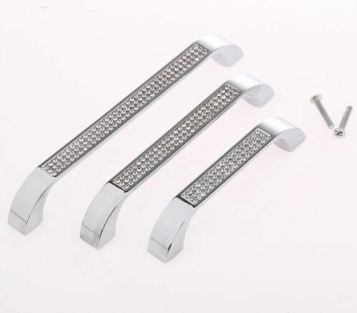 CD22-Top Quality Crystal Inset Door Drawer Cabinet Kitchen Furniture Handle Bars