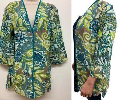 RRP £36 PER UNA 3//4 Sleeve Floral Kimono Jacket