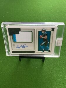 Will Grier 🔥🔥🔥 2019 Panini One In Card Auto Patch RC #'d /99 PANTHERS