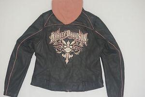 Davidson roze leren jas met 97086 M 3in1 capuchon Harley Tempest zwaard 09vw 1cFuTKJl3