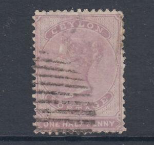 Ceylon SG 48, Sc 45b used. 1863 ½p dull mauve QV, perf 12½, pinhead thin