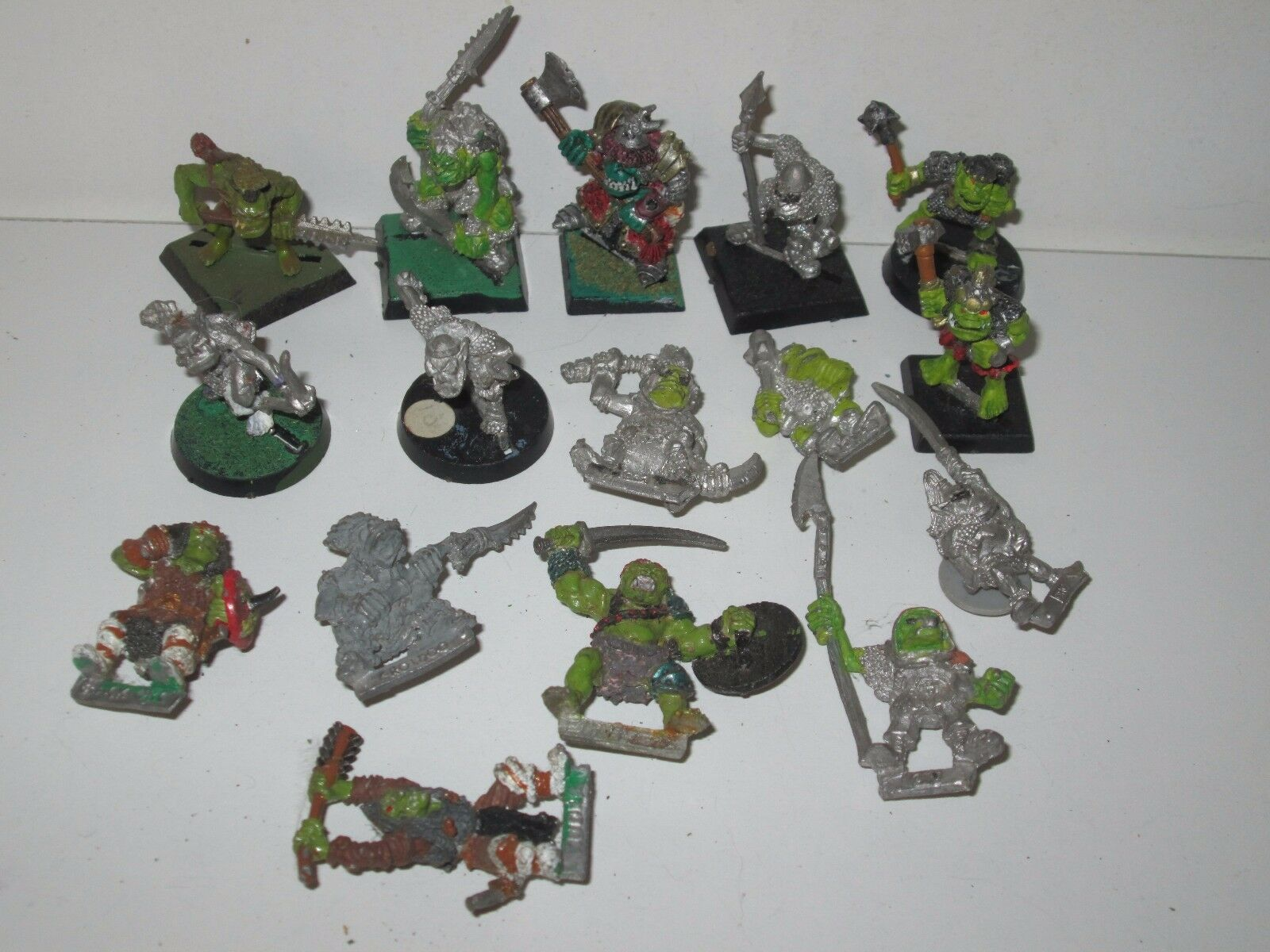 Warhammer Fantasy Orcs and Goblins Marauder Orcs Regiment Warriors x16 metal OOP