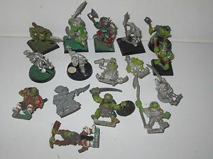 Warhammer Fantasy Orcs And Goblins Régiment De Maraudeurs Warriors X16 Metal Oop