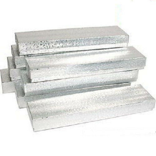 """NEW 50 silver Cotton Filled Jewelry Craft Gift Boxes 8"""""""