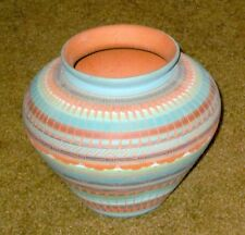 Beautiful Navajo Vase Made & Signed by Myron Charlie, Navajo, 6 ½ x 5 ½ Inches