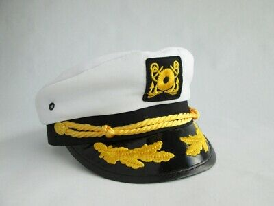 Adult YACHT BOAT SHIP SAILOR CAPTAIN COSTUME HAT CAP NAVY MARINE ADMIRAL HAT