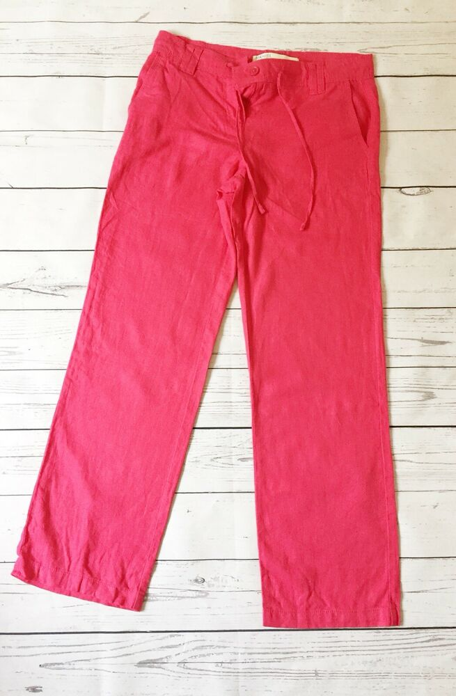 Humble Next 8 Rose Lin Pantalon Regular Smart Décontracté Bnwt Été Vacances Pantalon Wear Art De La Broderie Traditionnelle Exquise
