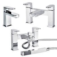 Chrome Bathroom Taps Lever Set Basin Mono Sink Bath Filler Shower Mixer Tap