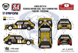 FFSMC-Productions-Decals-1-43-Lancia-Delta-S4-Grifone-Esso-7-Sanremo-86-rally