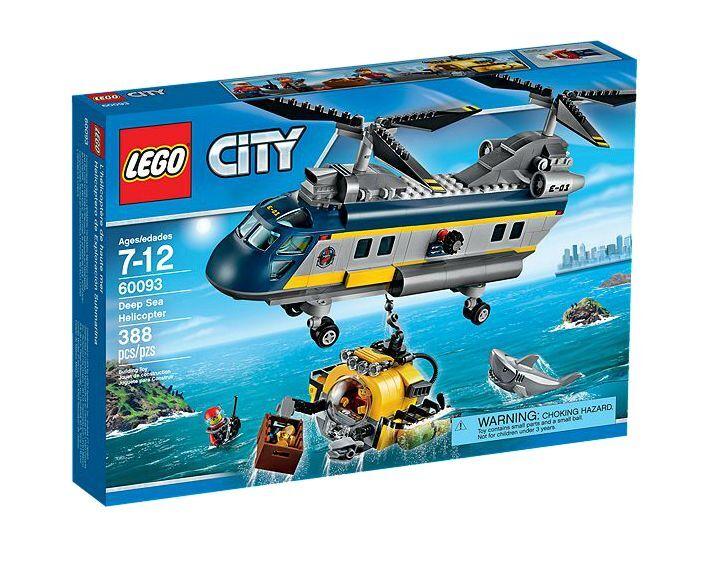 LEGO ® City 60093 eaux profondes-Hélicoptère NEUF neuf dans sa boîte _ Deep Sea Helicopter NEW En parfait état, dans sa boîte scellée Boîte d'origine jamais ouverte