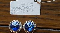 Genuine Swarovski Elements Crystal Stud Earrings 13mm - 10 Different colours!