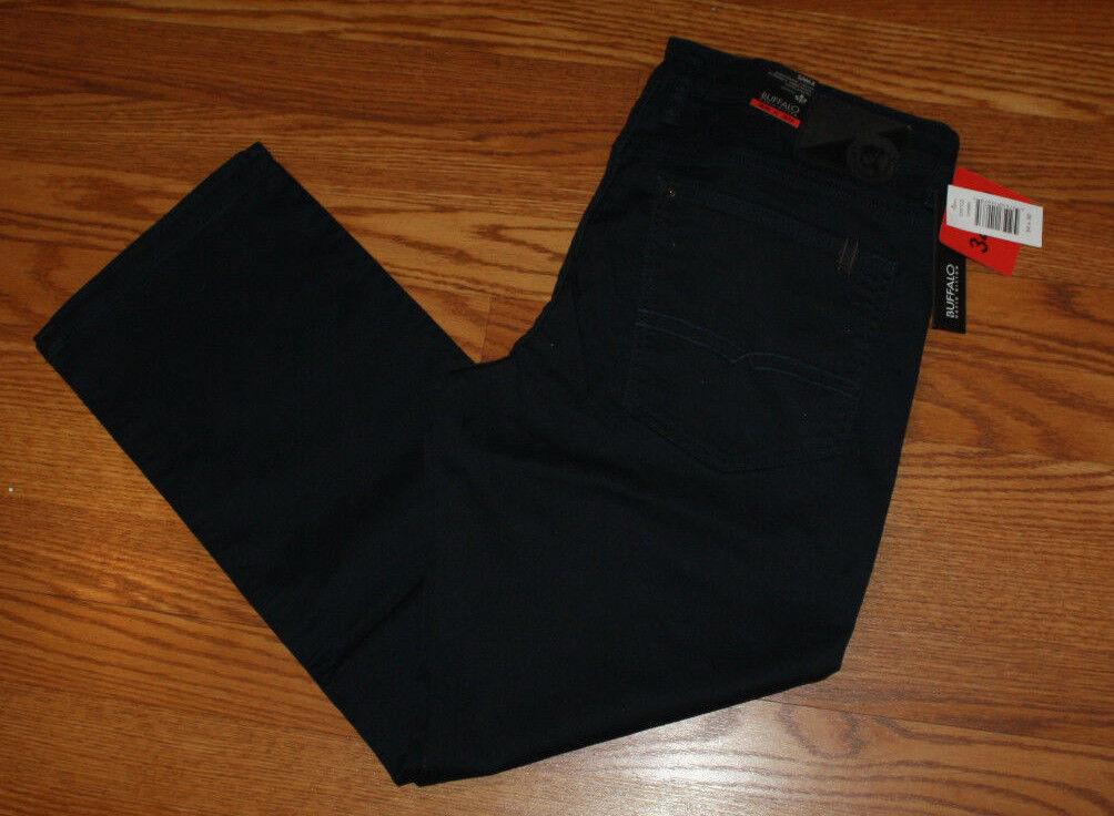 NWT Mens BUFFALO JEANS SAM-X BASIC Navy Slim Straight Stretch Jeans 32 W 32 L