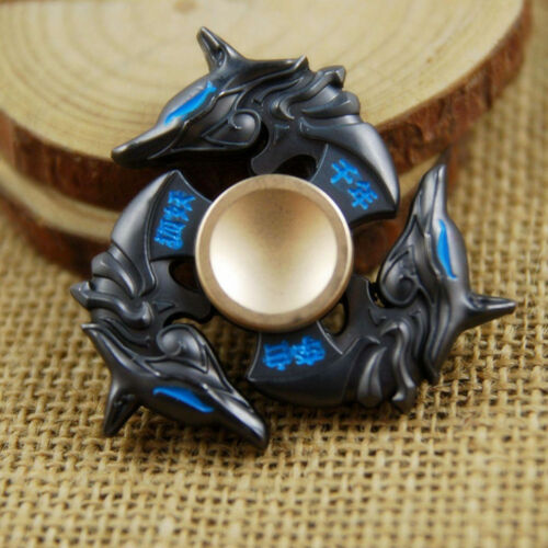 Hand Spinner Alloy Tri-Fidget Finger Spinning Gyro Focus EDC ADHD Autism Toy New