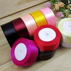 25-Yards-1-034-25mm-Satin-Ribbon-Wedding-Party-Craft-DIY-Hair-Bow-Decor-18-Colors